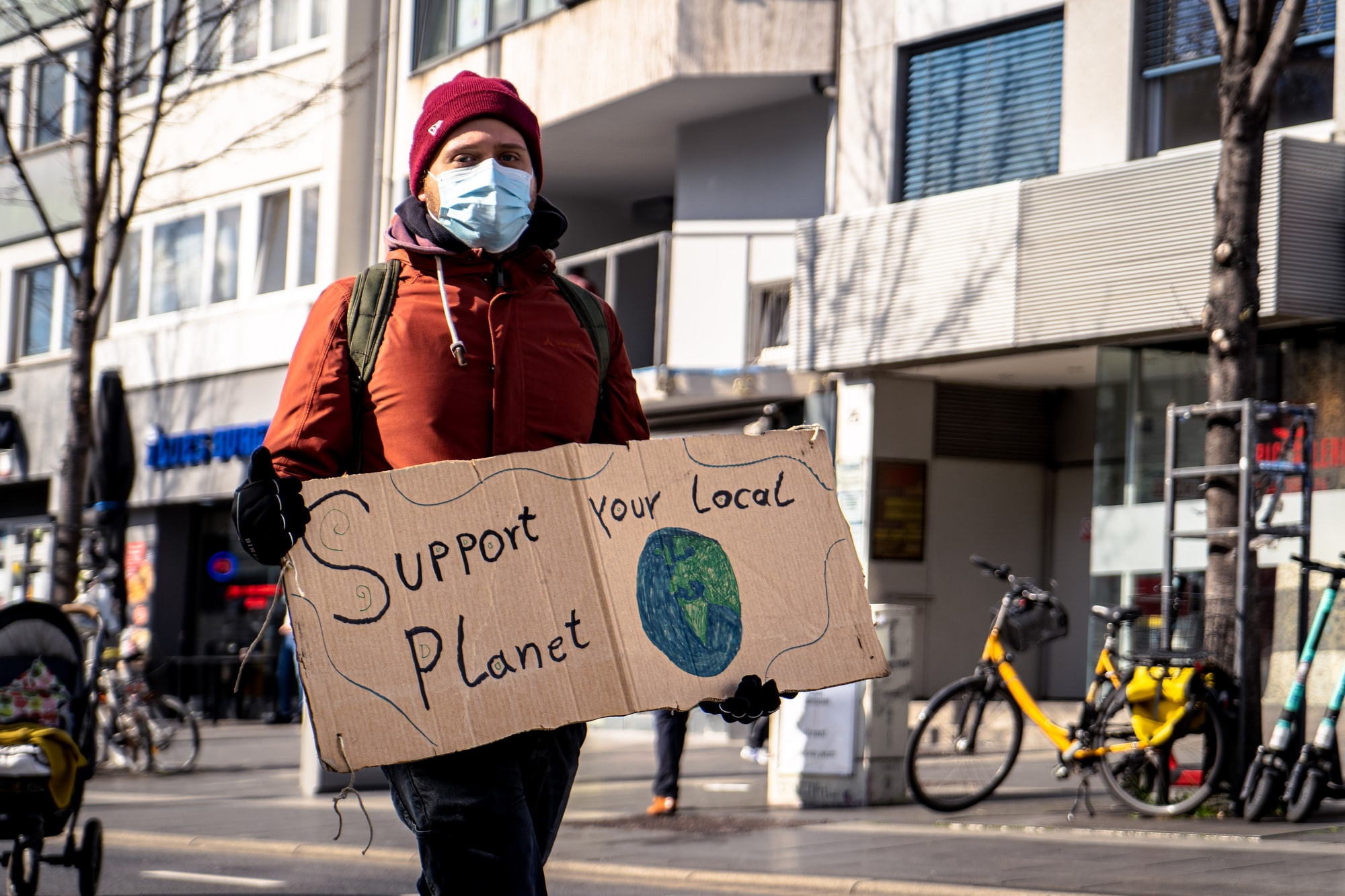 Support your local Planet!  - Fridays for Future Bonn, 2021-03-19