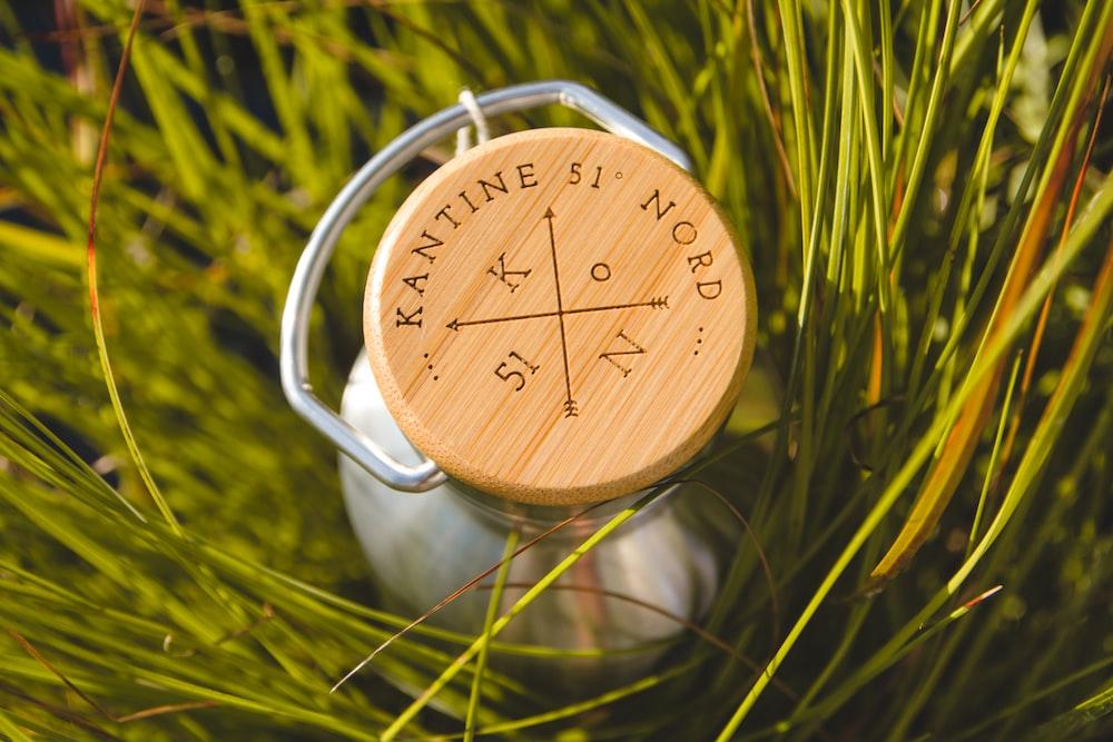 brown wooden round analog clock