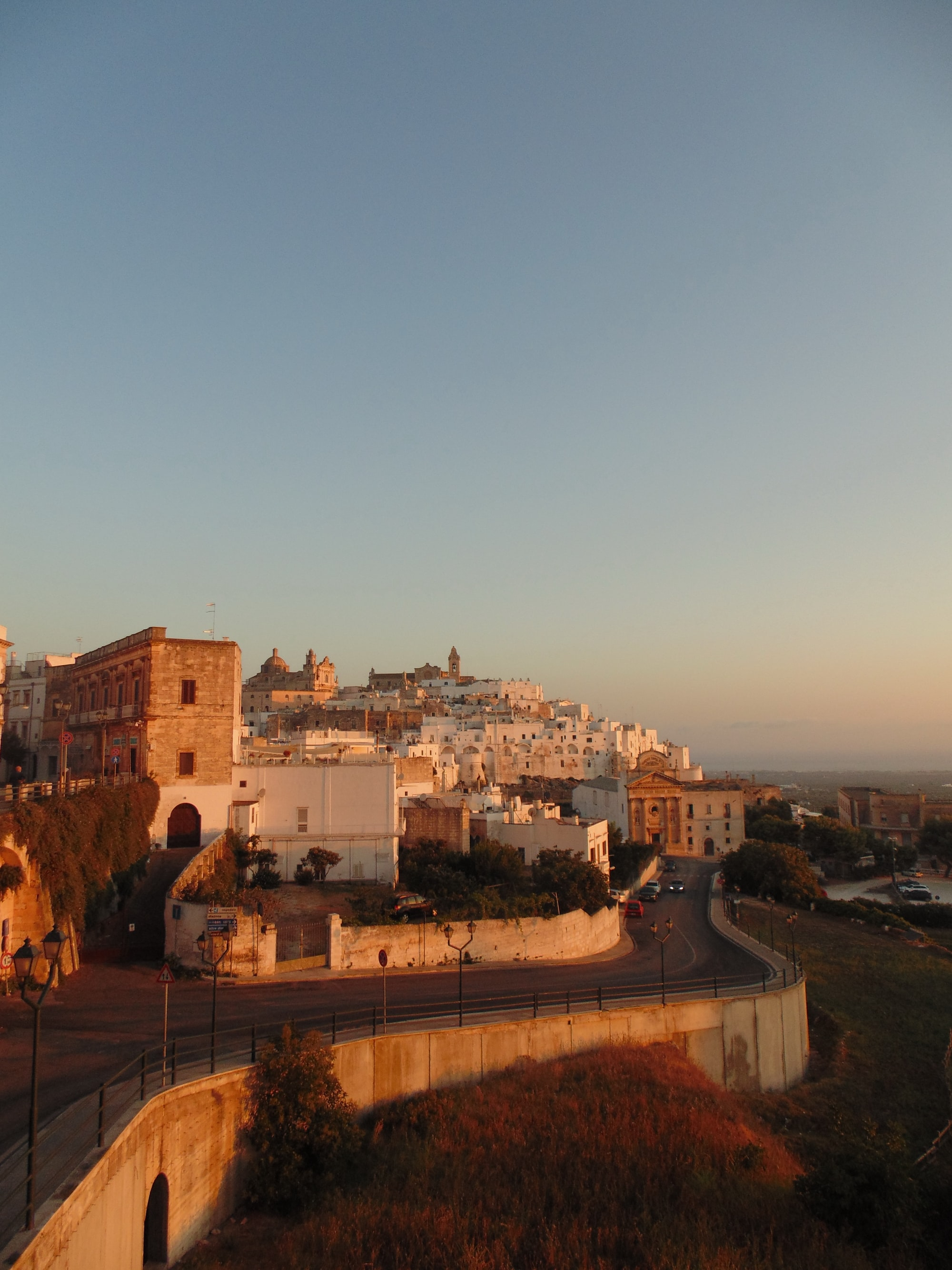 """The town of Ostuni also known as """"White City"""" is located in Puglia, a southern italian region"""