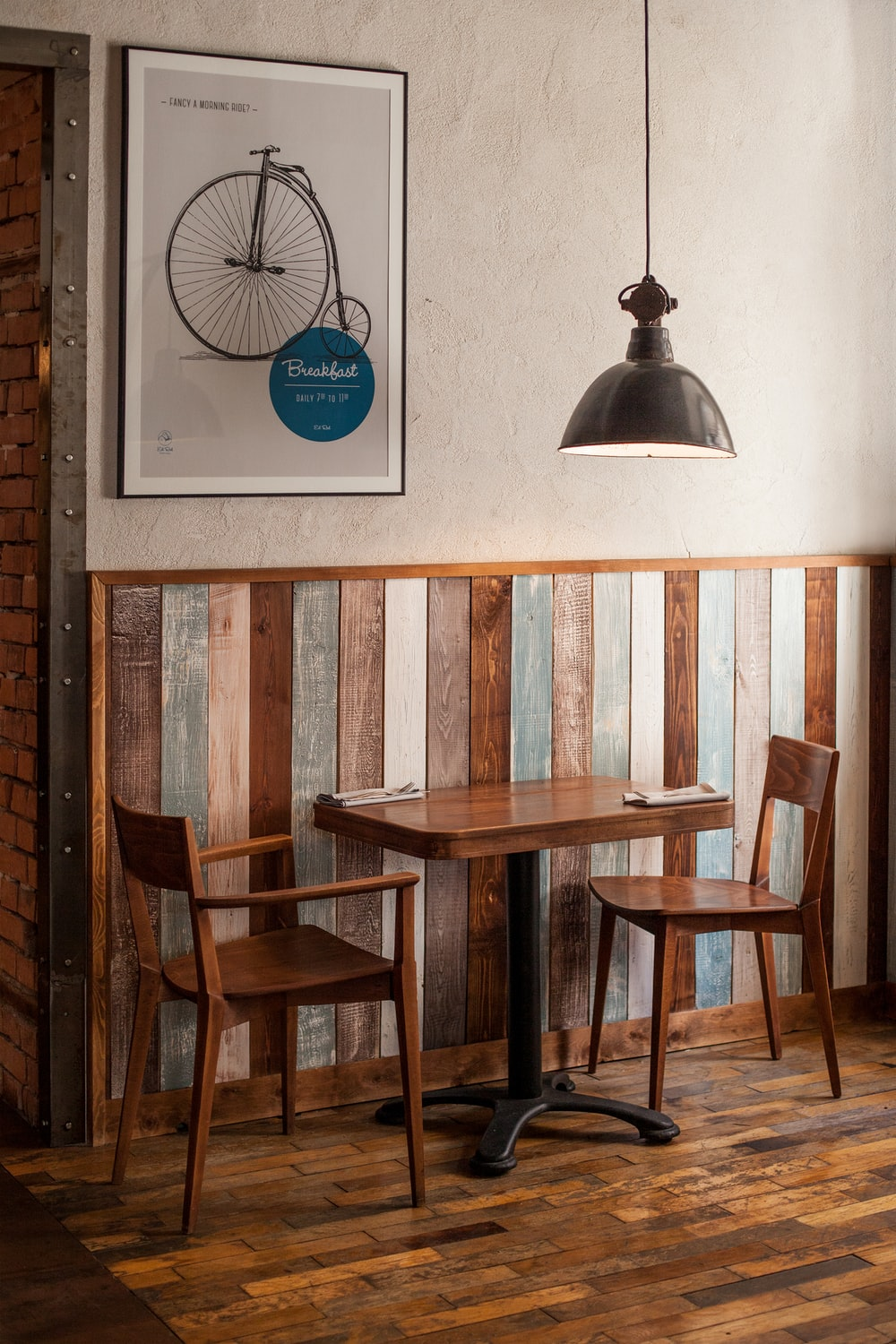 brown wooden dining table and chairs