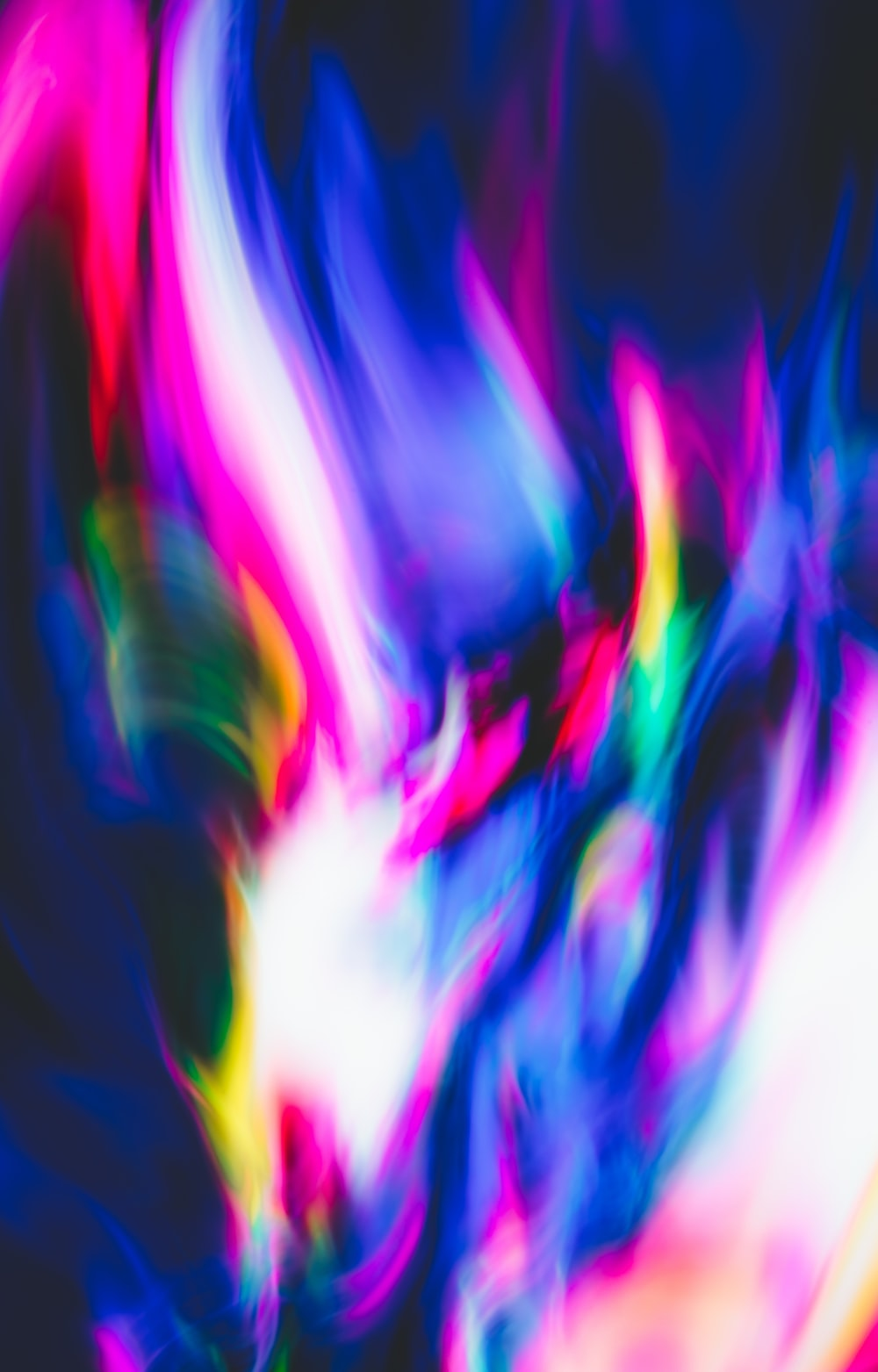 pink blue and white abstract painting