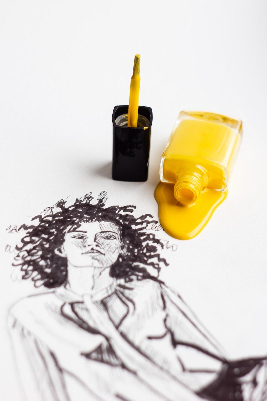 yellow and black plastic tool
