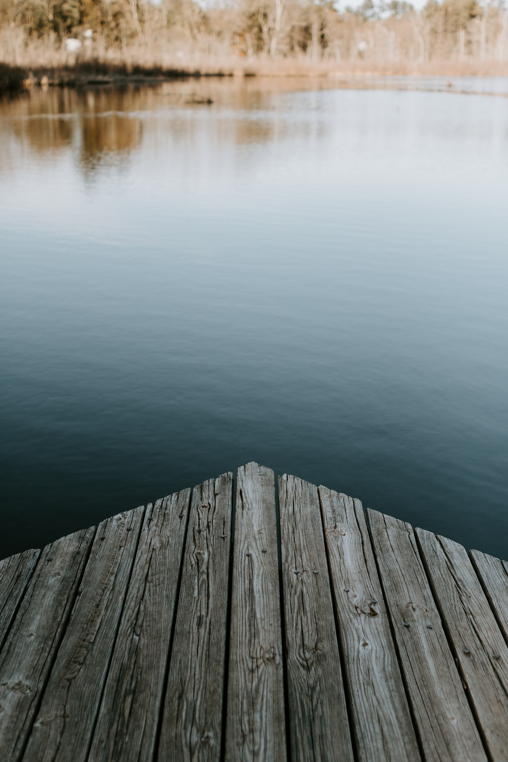 brown wooden dock on calm water