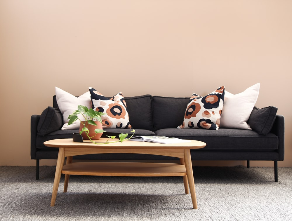 white and brown cat throw pillows on brown wooden armchair