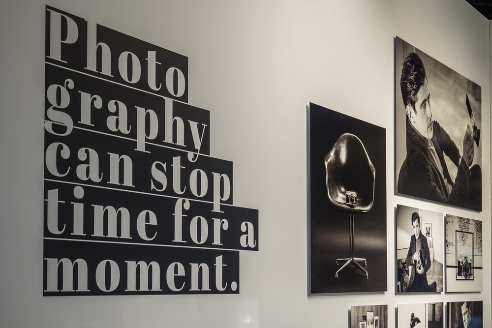 black and white quote wall decor