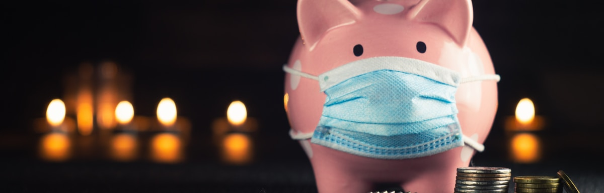 pink and blue pig figurine