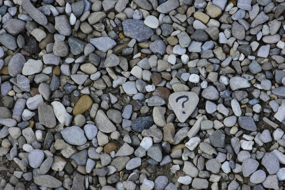 gray and brown stones on gray ground