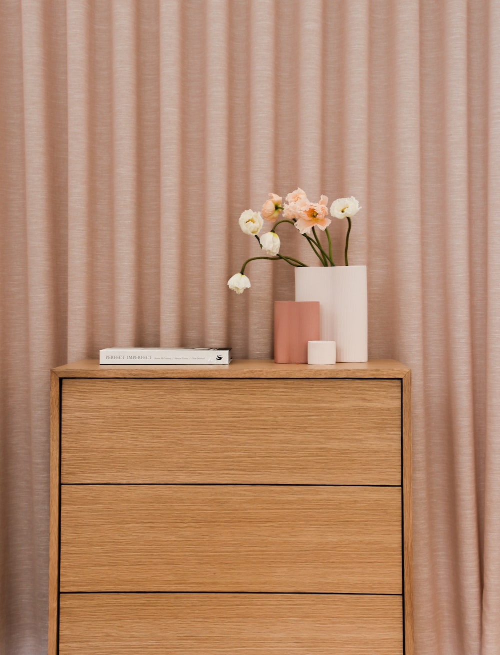 white and brown wooden cabinet