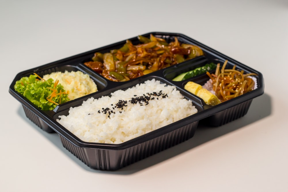 rice with meat and vegetable dish
