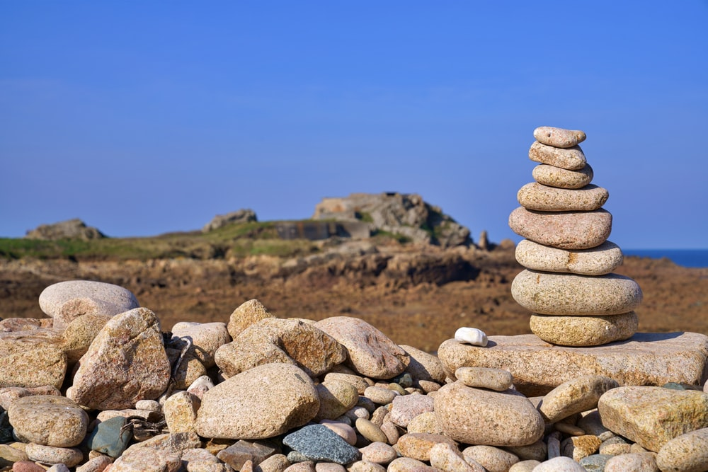 stack of stones during daytime