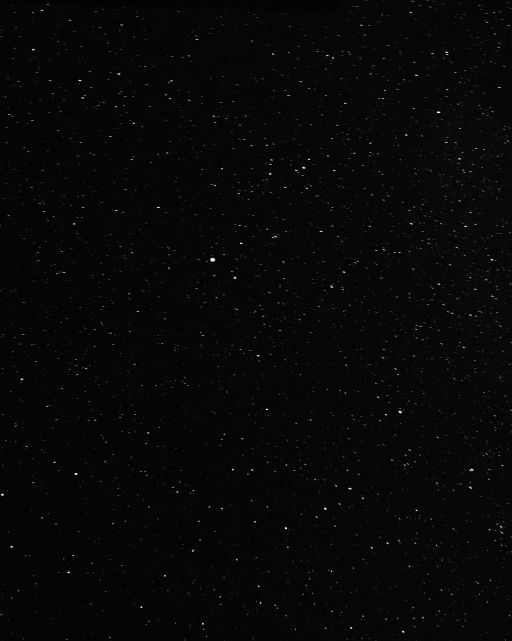 black and white stars in the sky