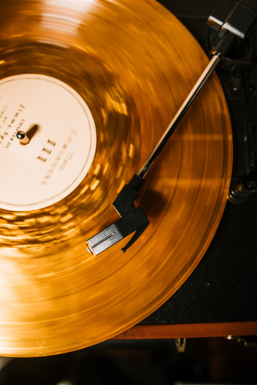 vinyl record on vinyl record