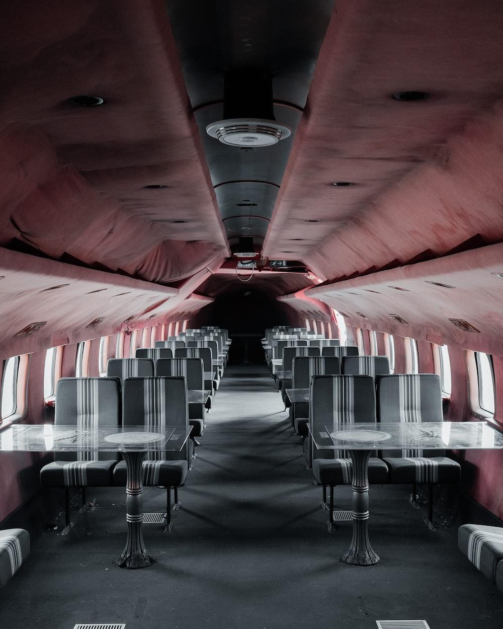 empty gray and white seats
