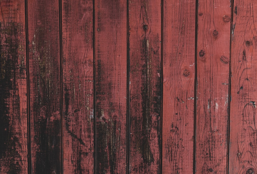 red and black wooden surface