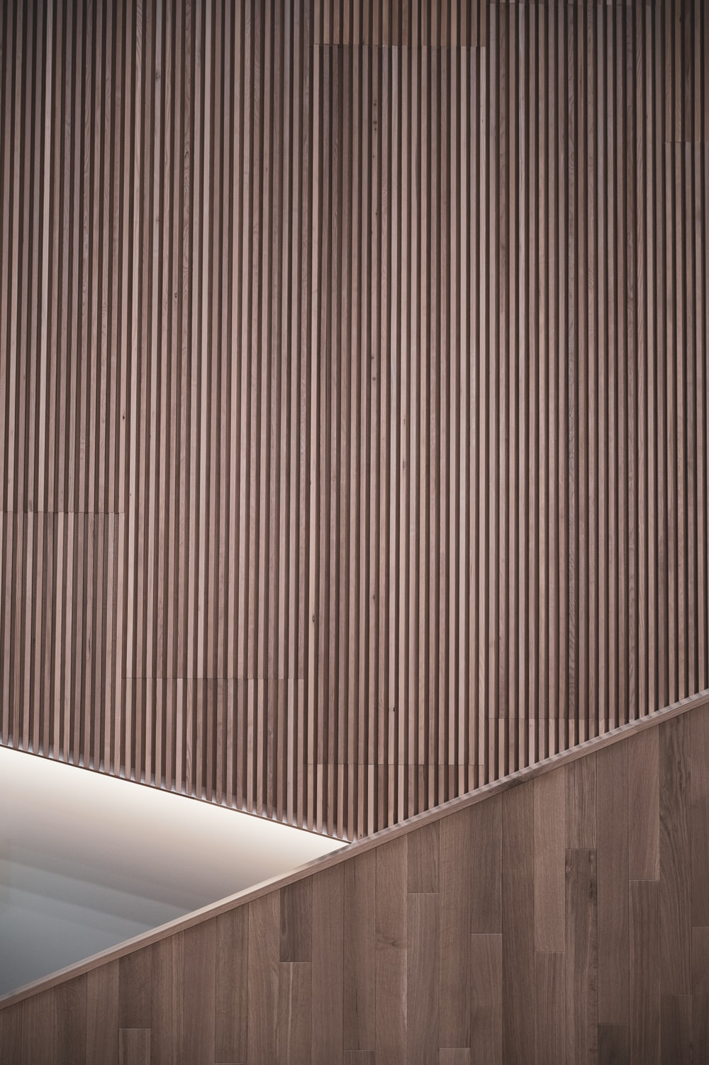 brown wooden wall with white wooden door
