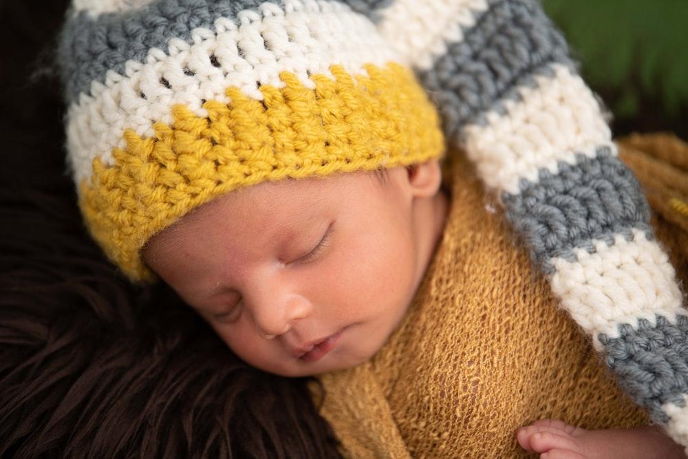 girl in yellow knit cap