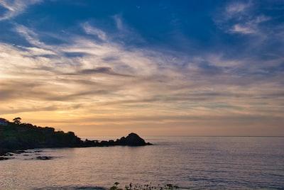 Warm sunset at Mundaka, Vizcaya. Euskadi.