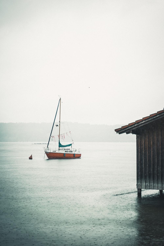brown wooden dock on sea