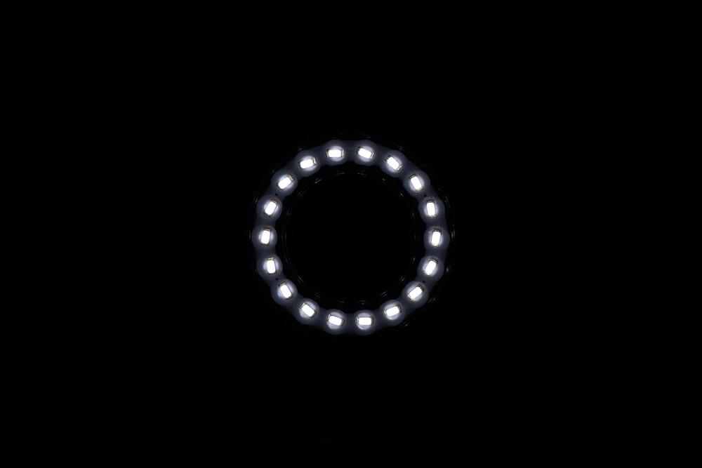 black round line on white background