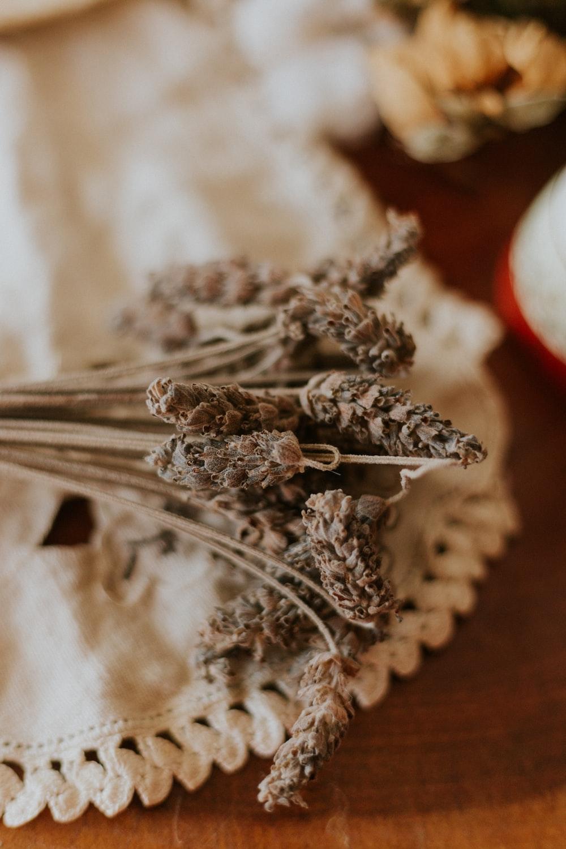 silver spoon on white textile