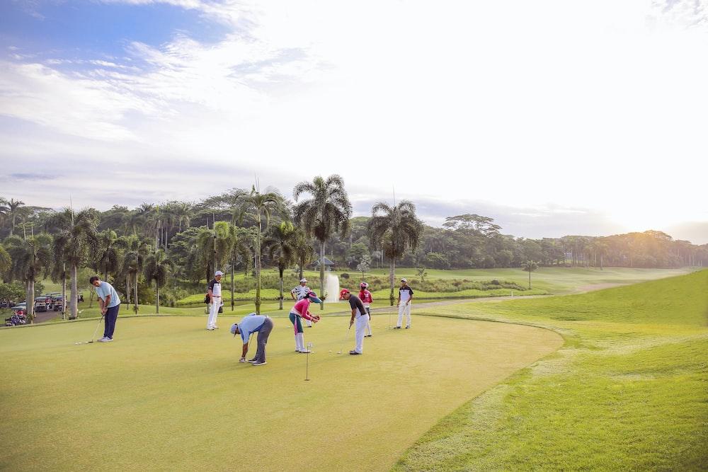 people playing golf during daytime