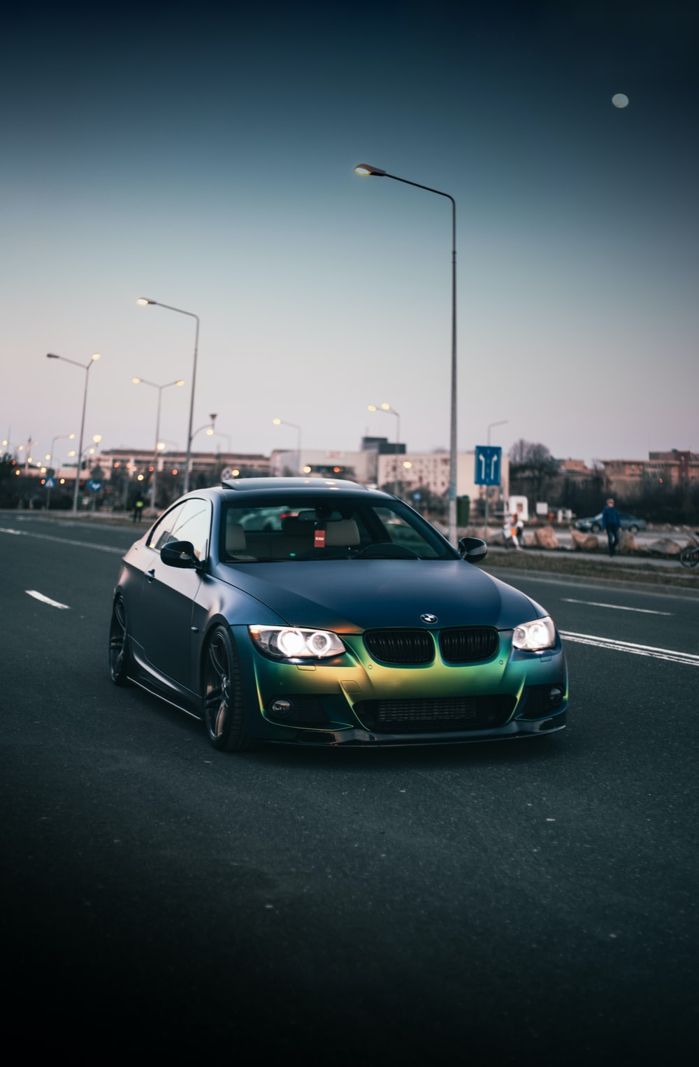 black bmw m 3 on road during daytime