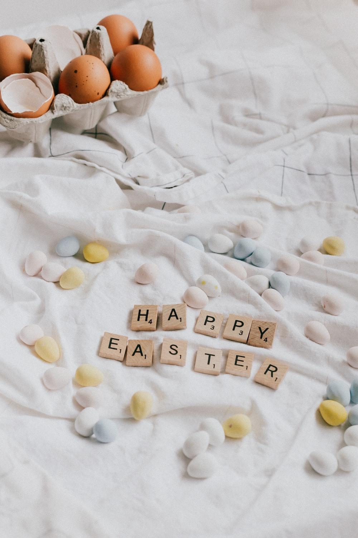 happy birthday greeting card on white textile