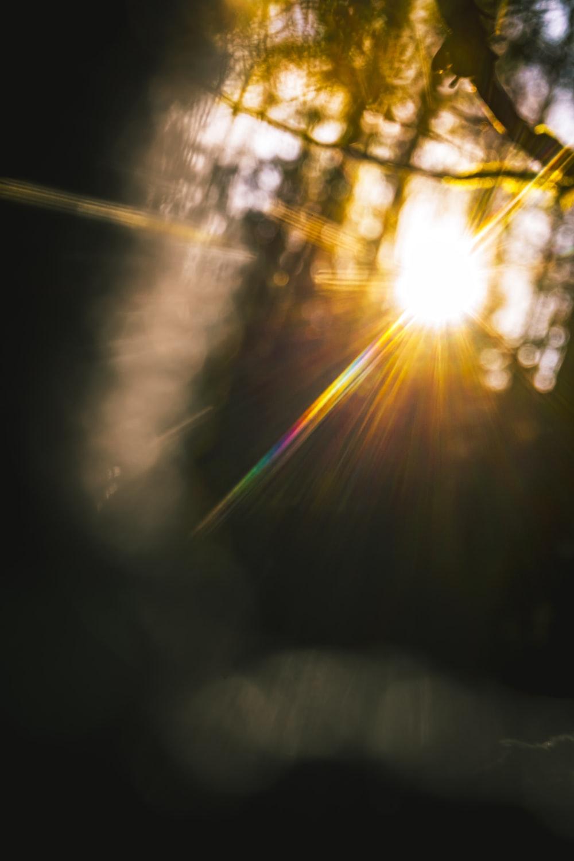 sun light on a dark room