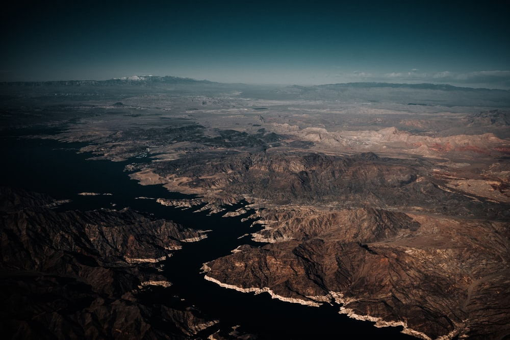 aerial view of brown mountains during daytime
