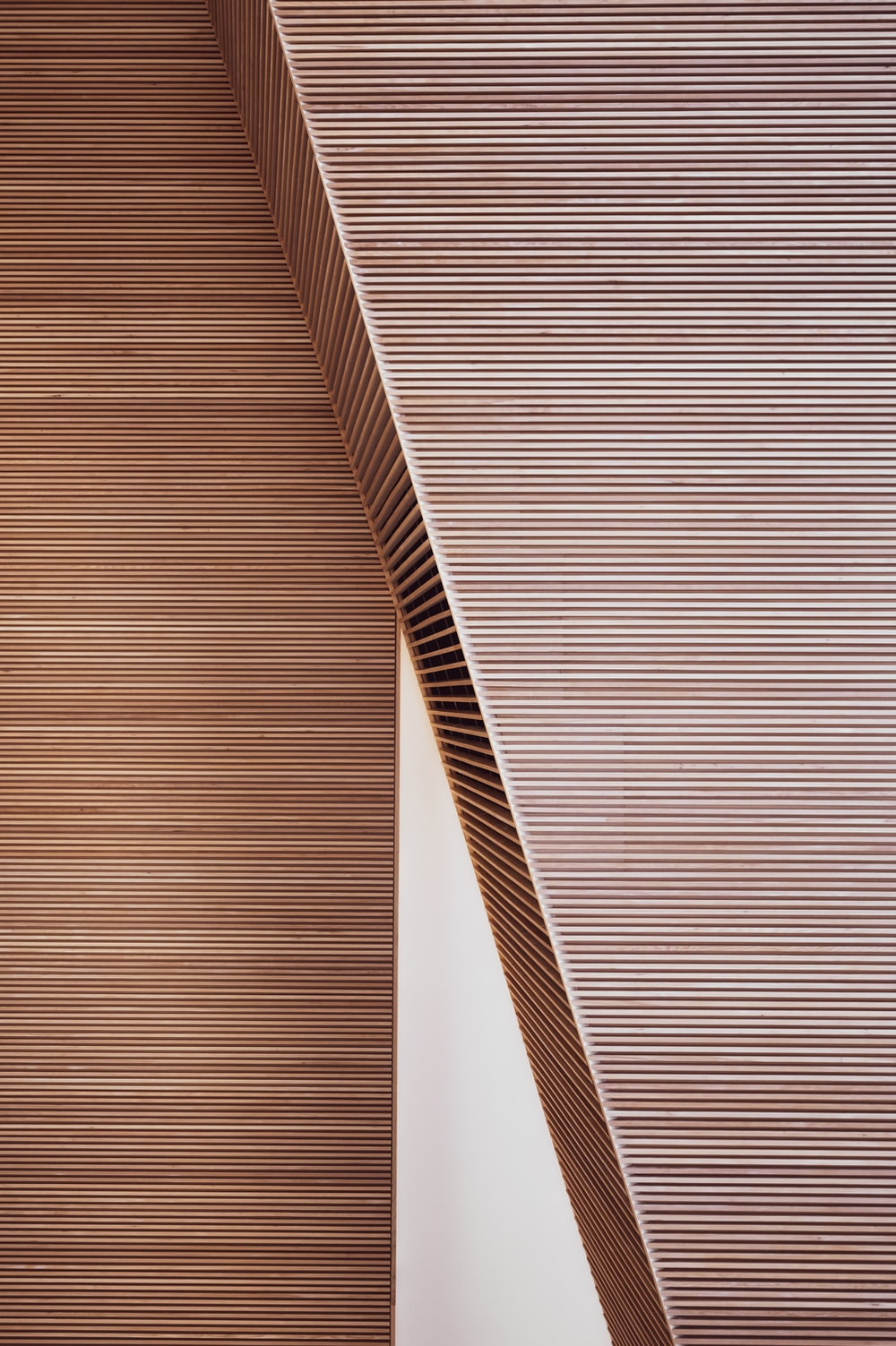 brown and white striped textile
