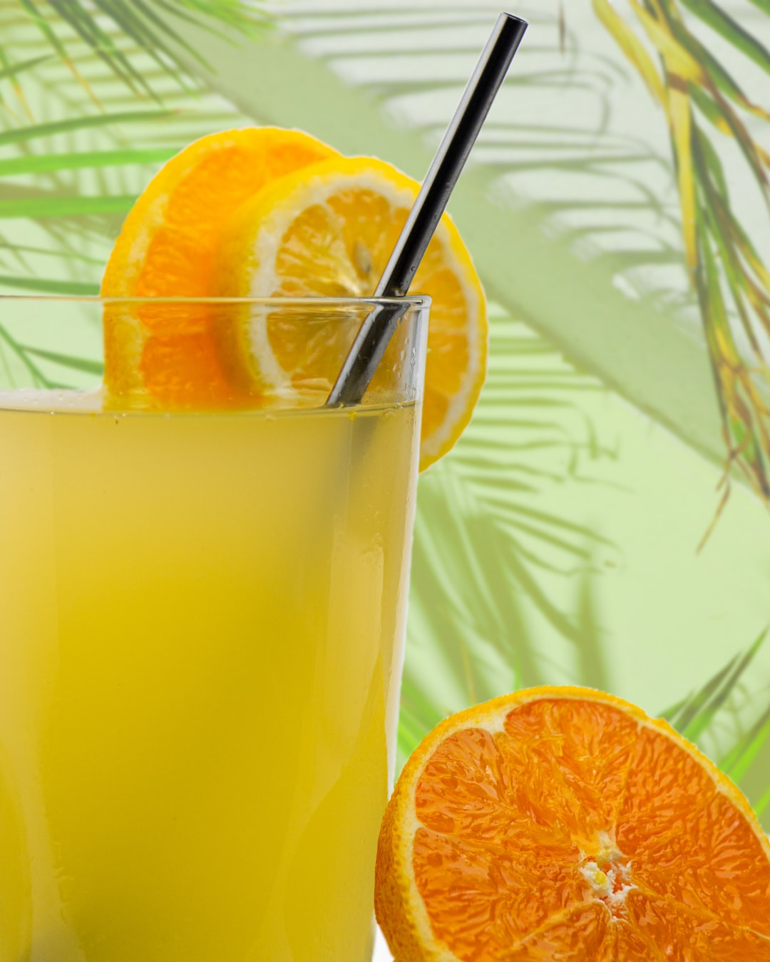 Summer vibe with a lemonade with oranges and lemons