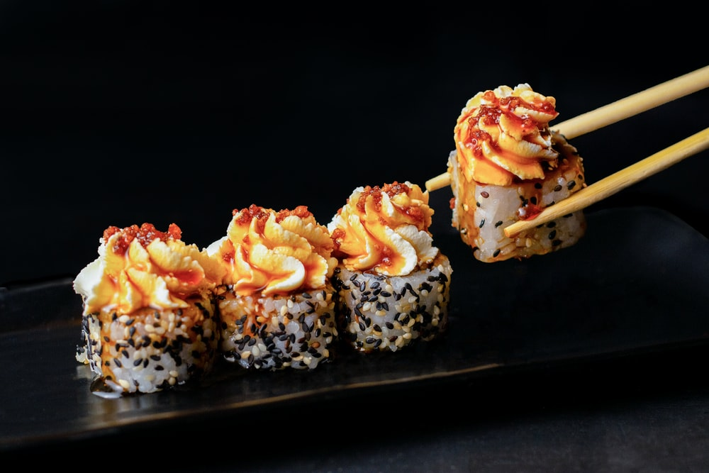 Sushi in Japanese restaurant