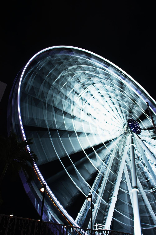white ferris wheel during night time