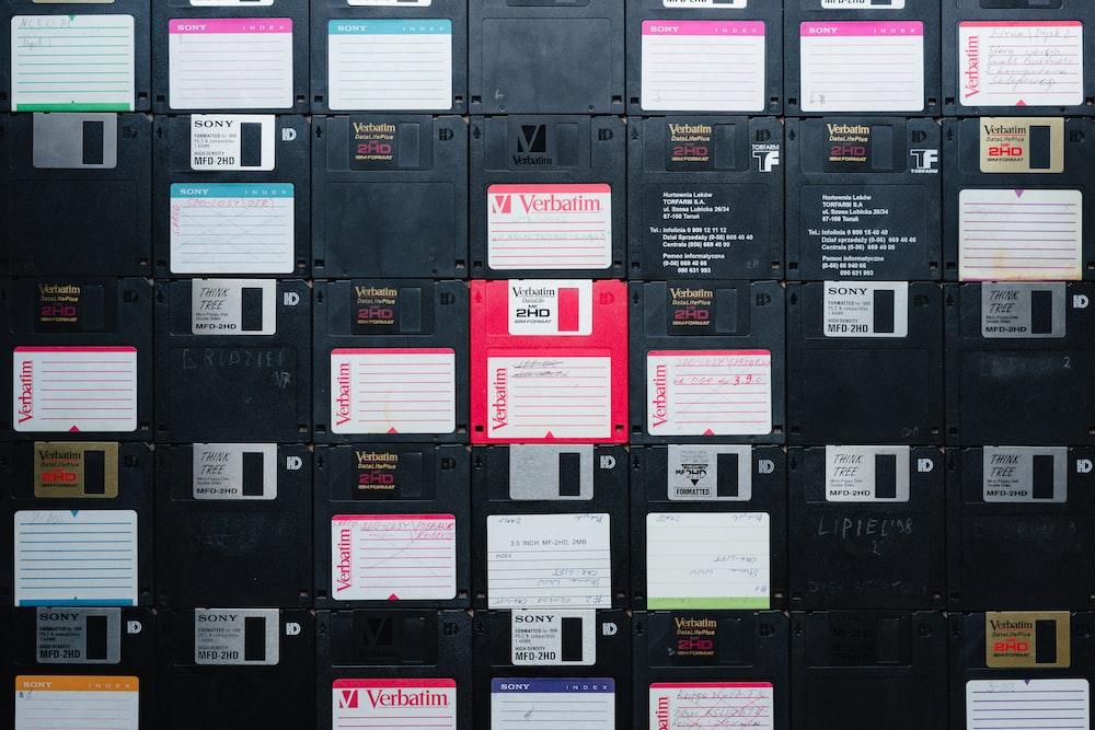 black and red cardboard box
