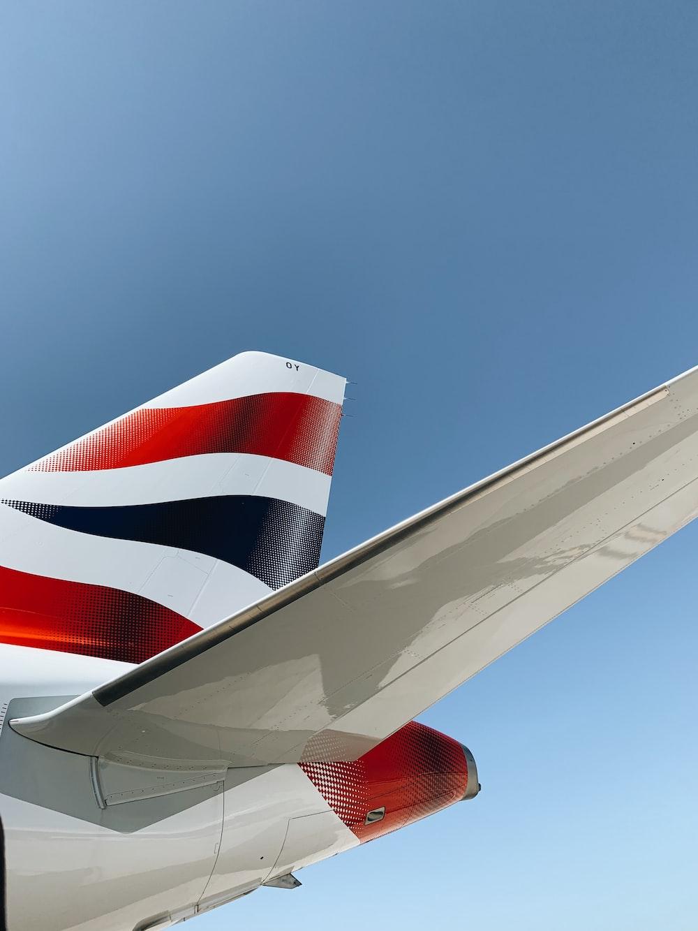 us a flag on white plane