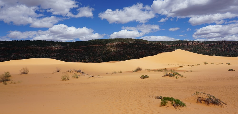 brown sand and brown mountain during daytime