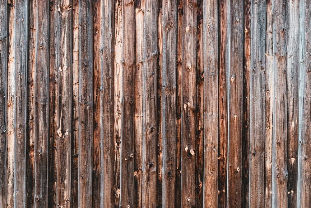 brown and gray wooden fence