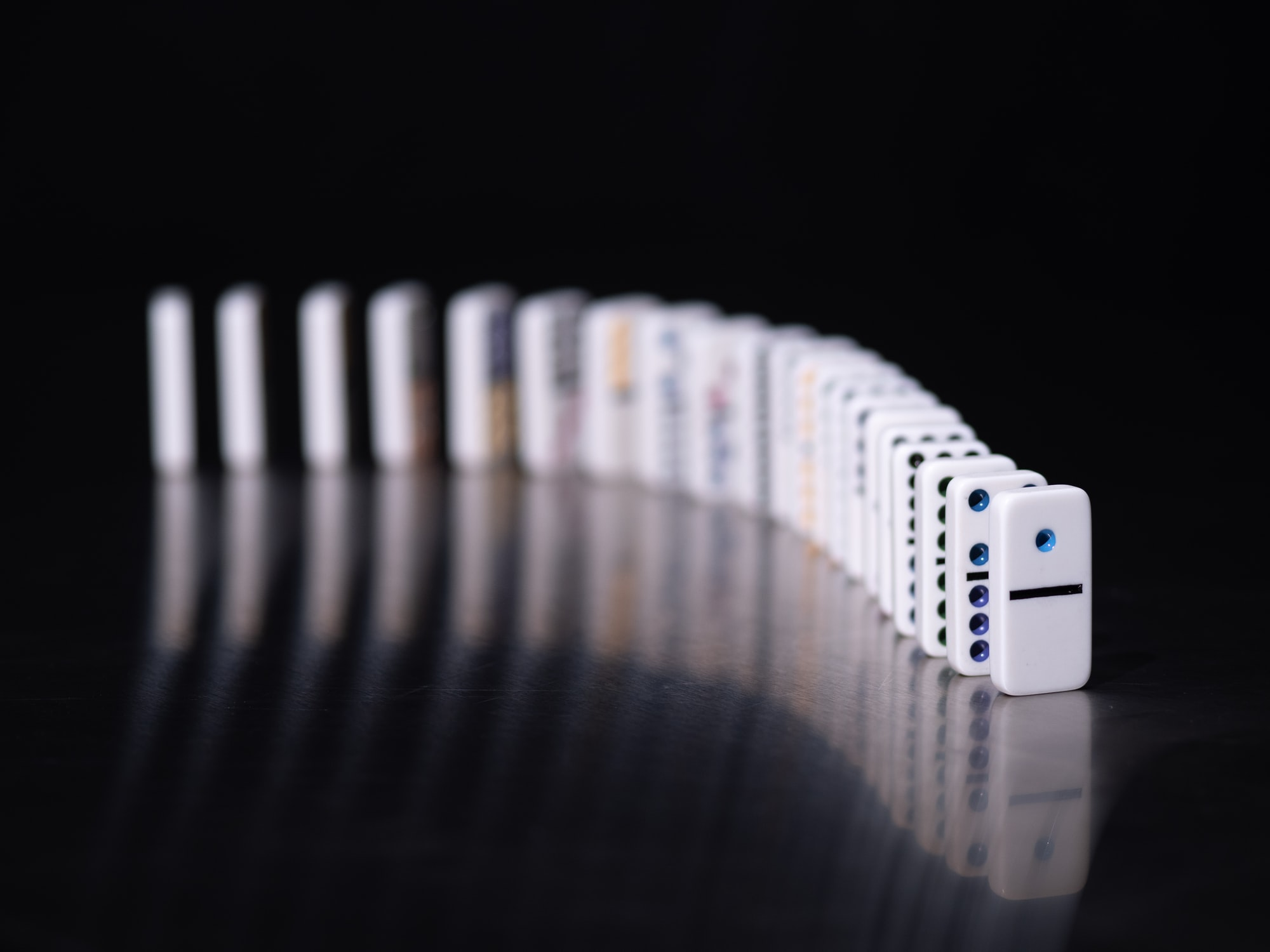 An array of dominos