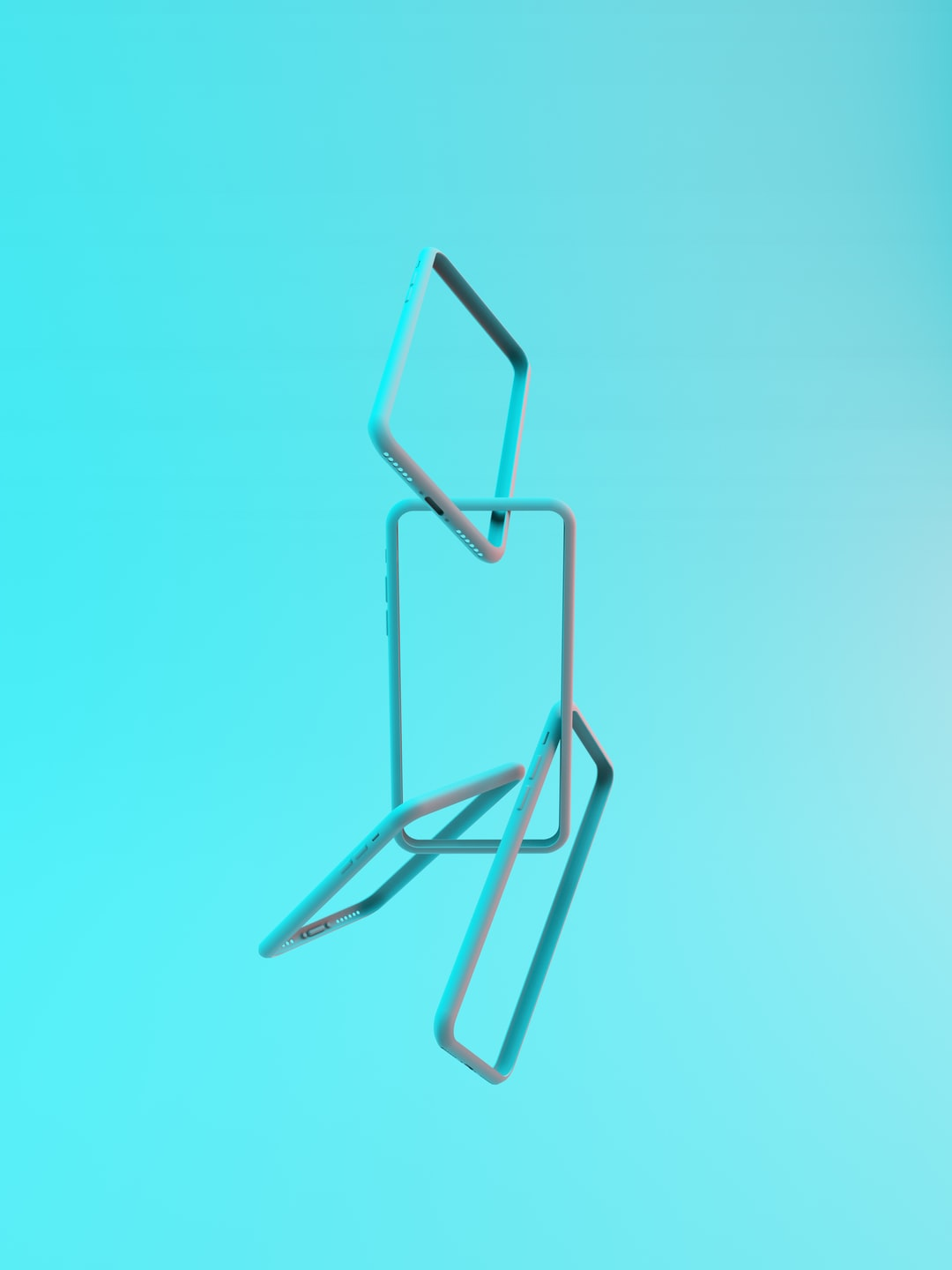 blue and black paper clip