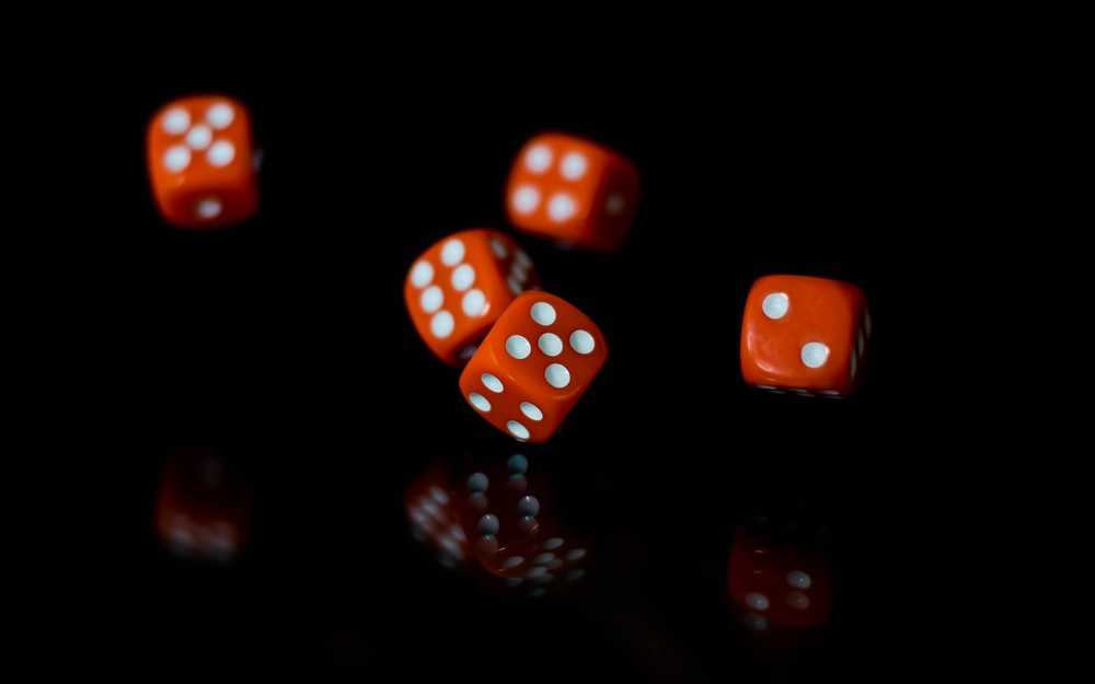red and white dice lot