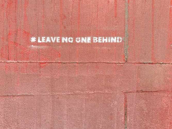 Leave no one behind