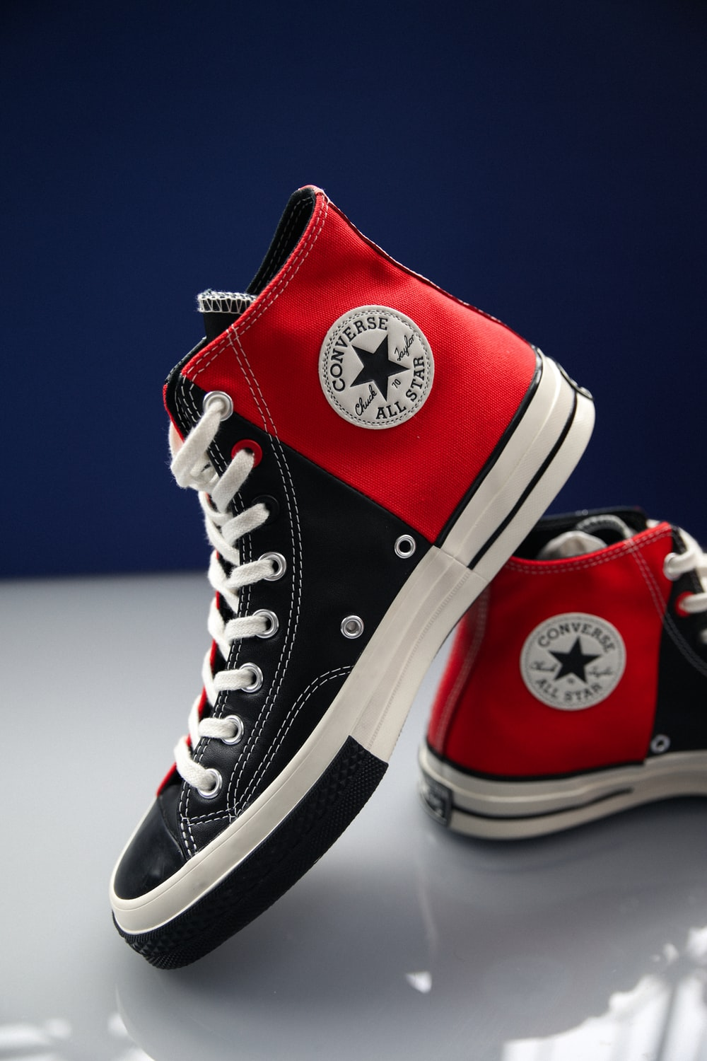 red converse all star high top sneakers