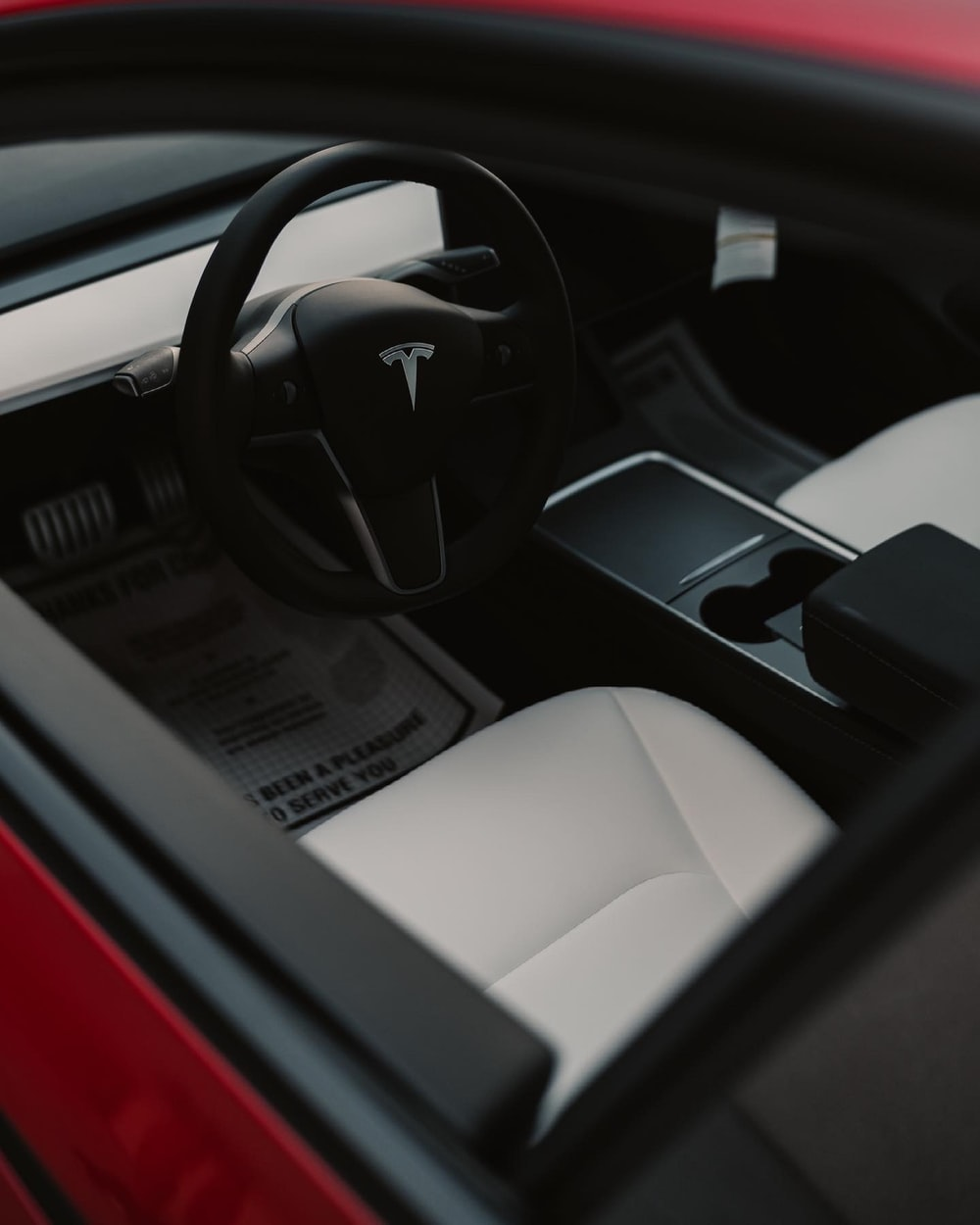 black and white car steering wheel