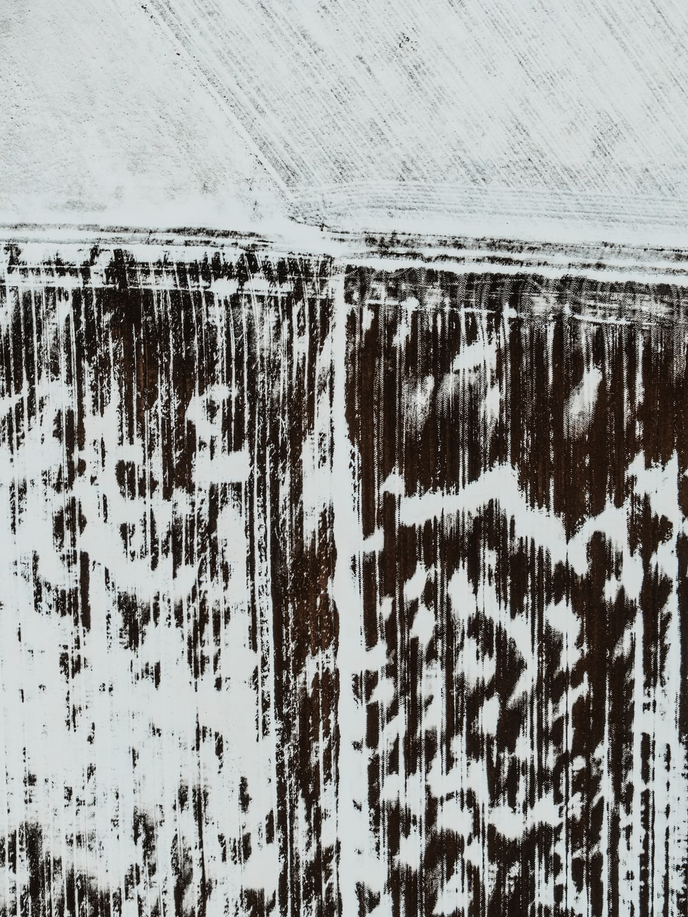 white and brown abstract painting