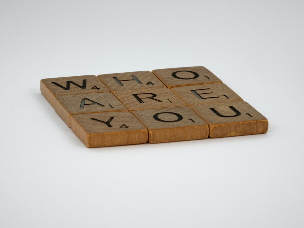 brown wooden i love you letter