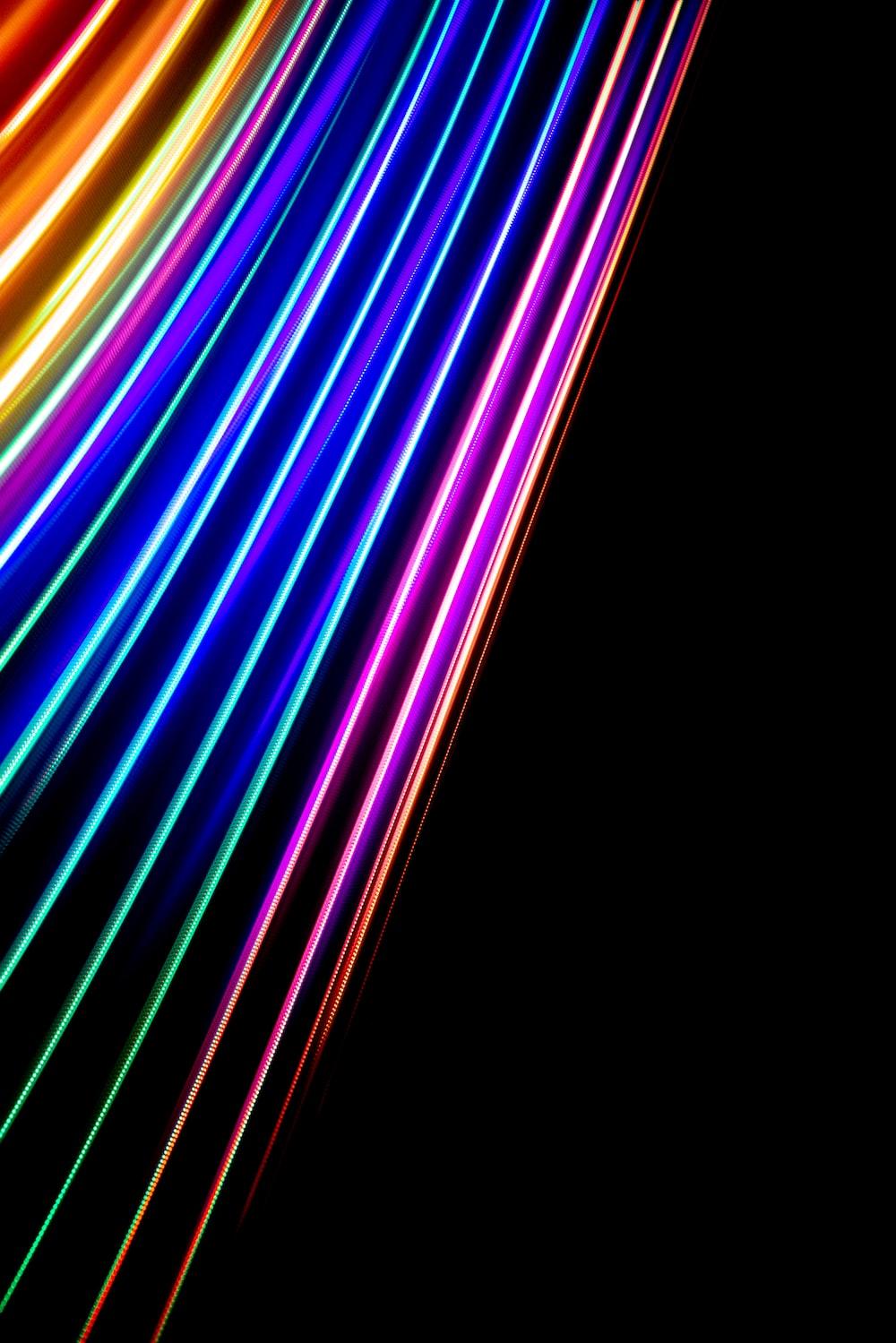purple and yellow light streaks