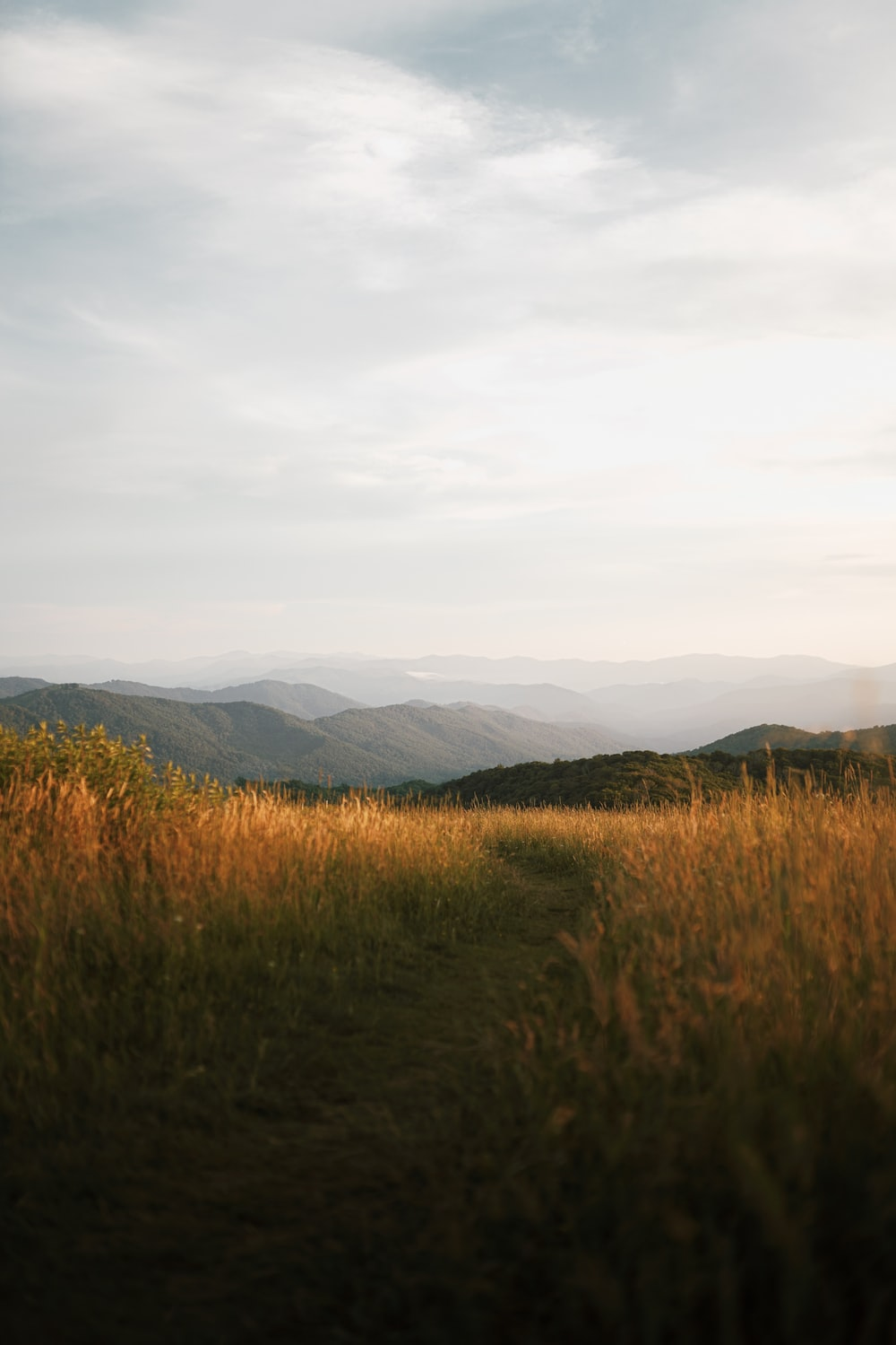 brown grass field near mountains during daytime