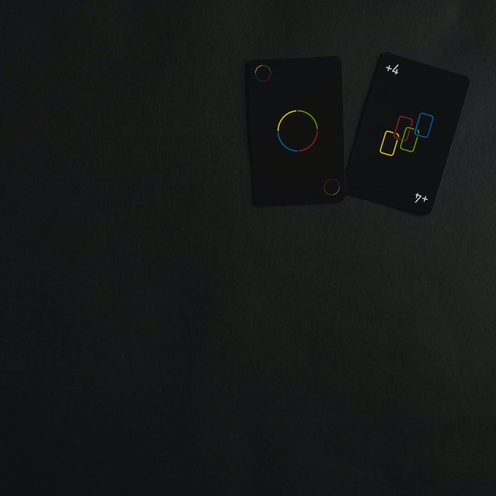 white and black square device