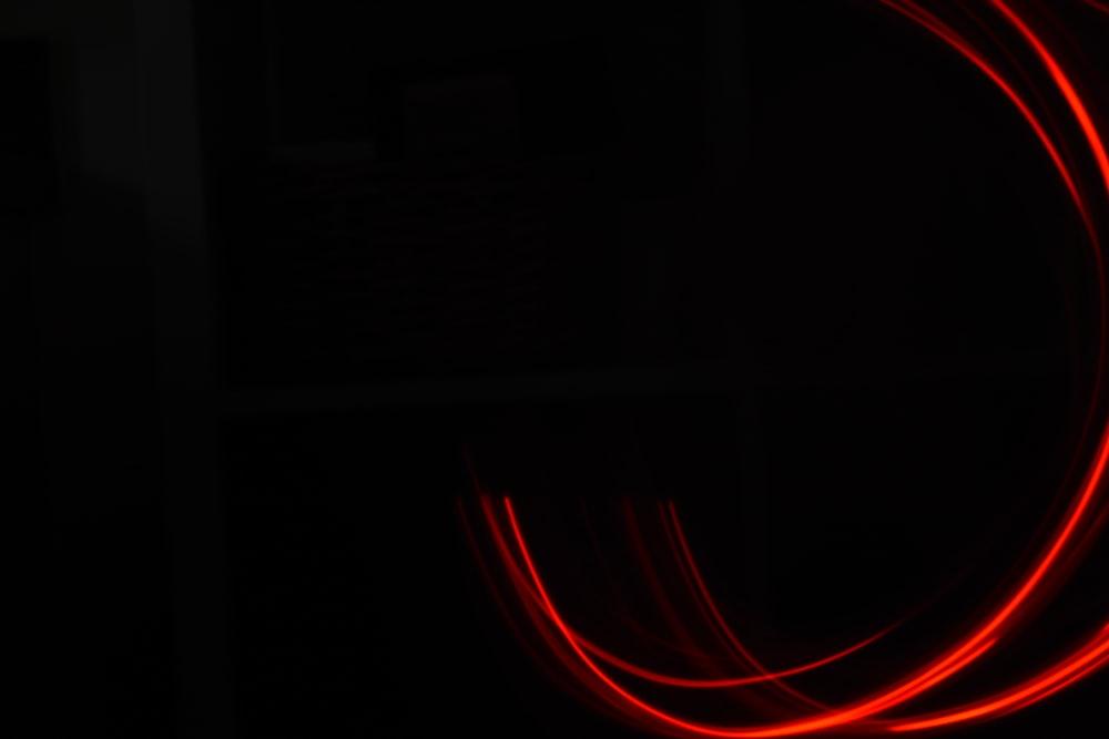 red light on dark room
