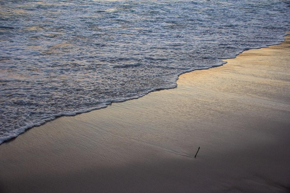 birds eye view of beach